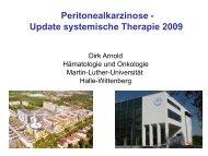 Peritonealkarzinose - Update systemische Therapie 2009