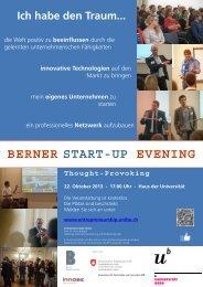 BERNER START-UP EVENING - IMU - Management - Universität Bern