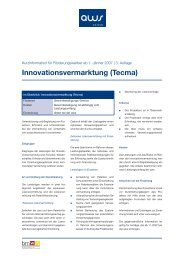 Innovationsvermarktung (Tecma) - evolve
