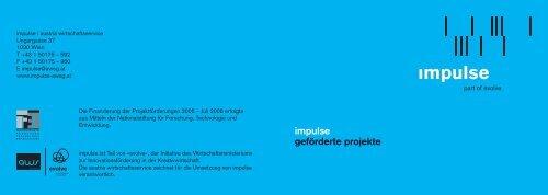 impulse geförderte projekte - impulse/aws