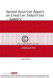 Second Austrian Report on Creative Industries - Creativwirtschaft.at
