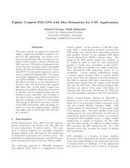 Tightly Coupled INS/GPS with Bias Estimation for UAV Applications