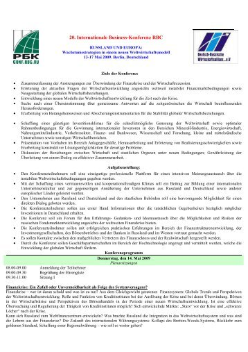 Programm des Kongresses (PDF) - Deutsch-Russische ...
