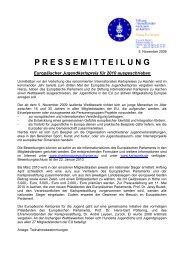 Europäischer Jugendkarlspreis 2010 - EU-Direct
