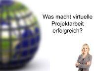 Virtuelle Projektarbeit - Berufsverband für Online-Bildung