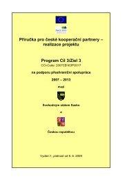 Příručka pro české kooperační partnery - realizace projektu - Ziel 3