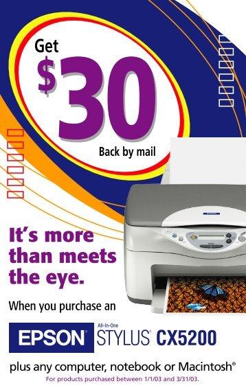 STYLUS® CX5200 It's more than meets the eye. - Epson