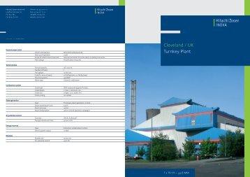 Cleveland / UK Turnkey Plant - Hitachi Zosen Inova AG