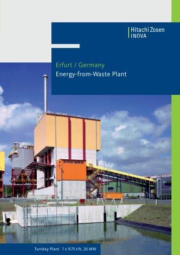 Erfurt / Germany Energy-from-Waste Plant - Hitachi Zosen Inova AG