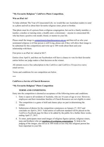 Competition terms and conditions template australia choice image terms and conditions of the competition manchester city football 150203 my favourite religious photo competition terms pronofoot35fo Images