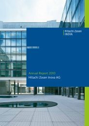 Annual Report 2010 Hitachi Zosen Inova AG