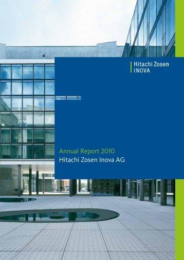 Annual Report 2010 Hitachi Zosen Inova AG