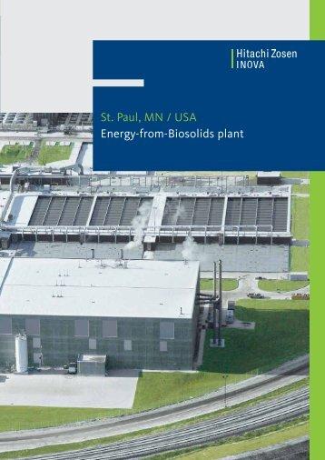 St. Paul, MN / USA Energy-from-Biosolids plant - Hitachi Zosen ...