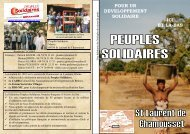 pour un developpement solidaire ici et la-bas - Peuples solidaires