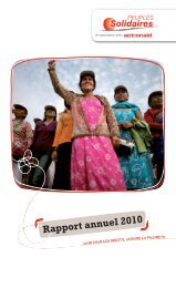 Rapport annuel 2010 - Peuples solidaires