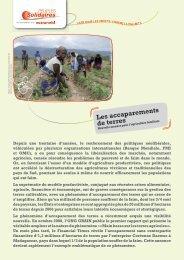 Les accaparements de terres - Peuples solidaires