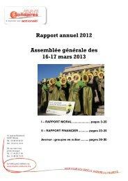 Rapport d'activité AG 2013 - Peuples solidaires