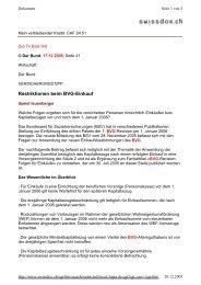 Restriktionen beim BVG-Einkauf - T+R AG