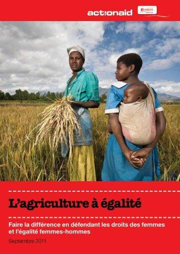 L'agriculture à égalité - Peuples solidaires