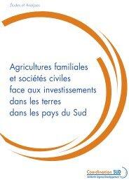 Agricultures familiales et sociétés civiles face aux investissements ...