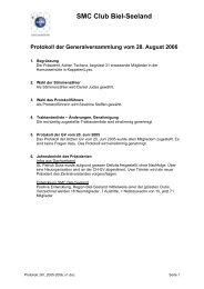 Protokoll 2005/06 vom 28.08.06 - SMC Biel-Seeland