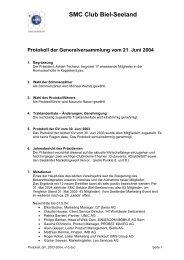 Protokoll 2003/04 vom 21.06.04 - SMC Biel-Seeland