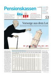 Pensionskassenvergleich 2009 Gesamtartikel der SonntagsZeitung ...