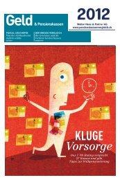 Vorsorge - bei Pensionskassenvergleich.ch