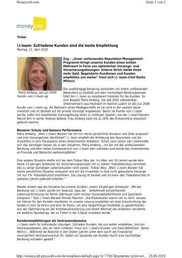 i.l.team: Zufriedene Kunden sind die beste Empfehlung Seite 1 von ...