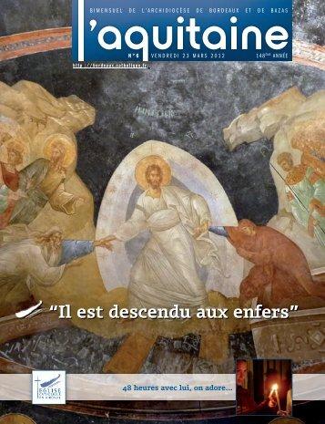 """""""il est descendu aux enfers"""" - Diocèse de Bordeaux"""