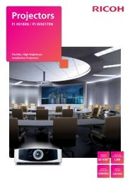 High-End Projector Brochure - Ricoh Europe