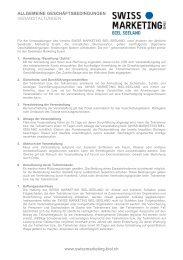 Allgemeine Geschäftsbedingungen AGB - Veranstaltungen