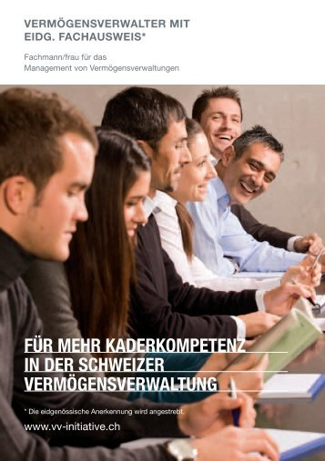 Kurzinfo Lehrgang VV - initiative für eine nachhaltige ...
