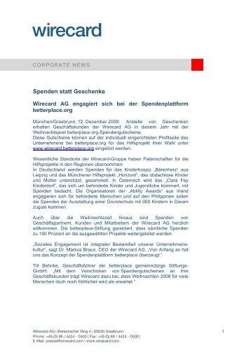Pressemitteilung - Wirecard AG