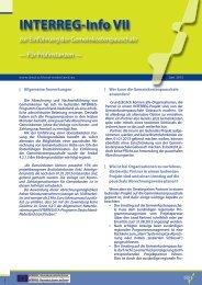 Informationsblatt zur Einführung der Gemeinkostenpauschale