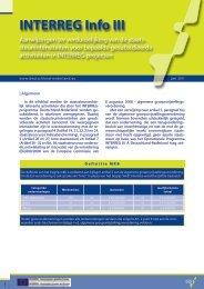 INTERREG Info III - Interreg IV A Deutschland-Nederland