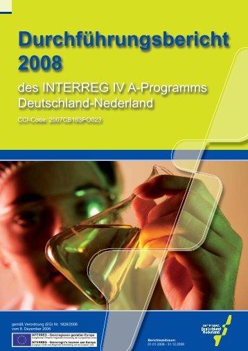 Durchführungsbericht 2008 - Interreg IV A Deutschland-Nederland
