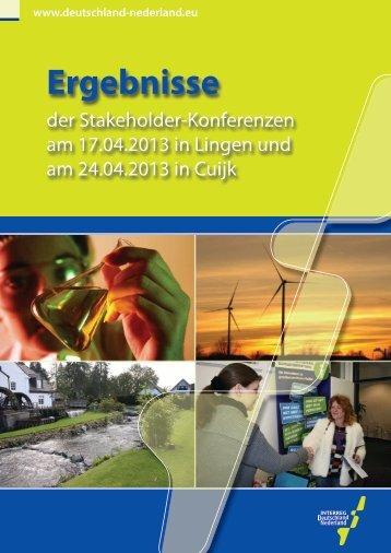 Ergebnisse - Interreg IV A Deutschland-Nederland