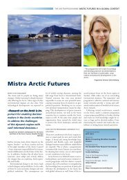 Fact sheet - Mistra Arctic Futures in a Global Context