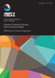 UiN rapport 3-2012.indd - Mistra Arctic Futures in a Global Context