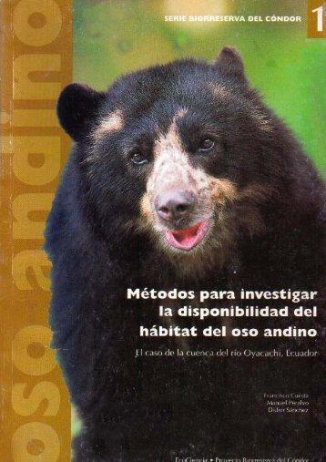 Métodos para investigar la disponibilidad del hábitat del oso andino