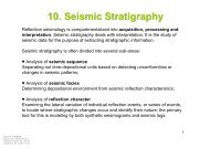 10. Seismic Stratigraphy