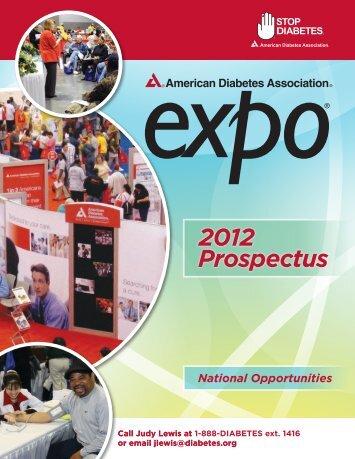 2012 Pr Ospectus - American Diabetes Association