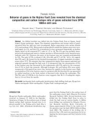 Thematic Article Behavior of gases in the Nojima Fault Zone ...