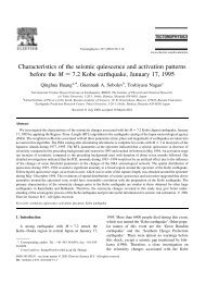 Characteristics of the seismic quiescence and activation patterns ...