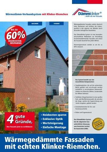 Dämmklinker Privatkunden - Klinker - Zentrale GmbH