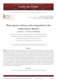 Plant species richness and composition in the arable land of Kosovo