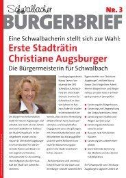 Schwalbacher Erste Stadträtin Christiane Augsburger