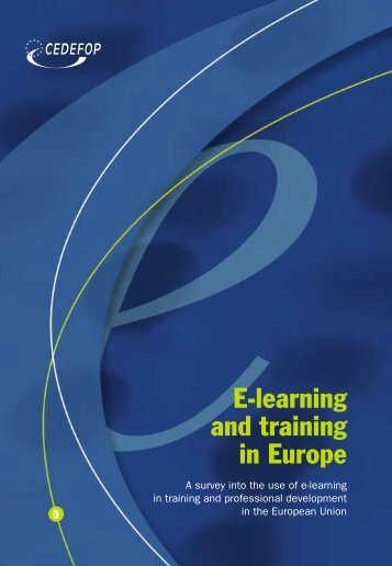 E-learning and training in Europe - Cedefop