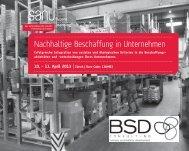 Nachhaltige Beschaffung in Unternehmen - BSD Consulting